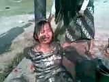 Girl tortured with feces