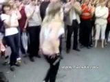 Wasted Girl Gets Naked During Festival