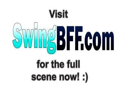 Swinger wife slurps on stranger's dick