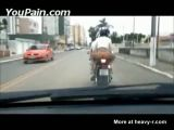 Without Panties On Motorbike