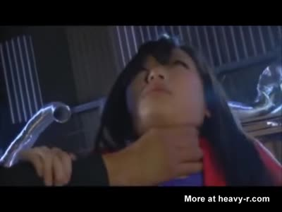 Japanese Supergirl Strangling Tormention
