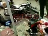 Thieves crashed their motorcycles