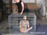 Caged Pet Slave Punished