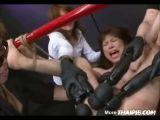Hairy Asian MILF Vibrator Gangbang