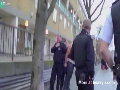 Thug Peeing Himself After Being Arrested