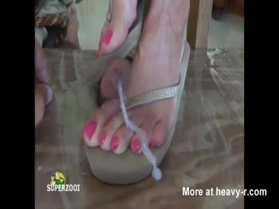 Sexy Toes Trampling Foot Job