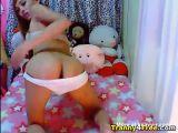 Sexy Tranny Masturbating her Cock