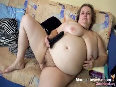 Big Fat Granny BBW Toying Cunt