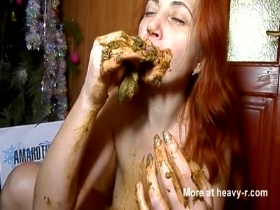 Filthy Girl Eating Her Turd