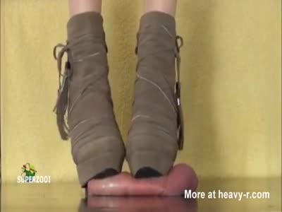 Cock Trampling By High Heels