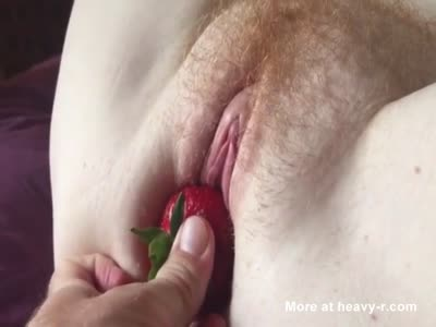 Eating Strawberries And Pussy