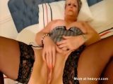 Fat MILF Showing Shaved Snatch