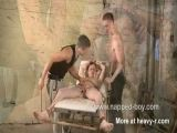Bound Brad Holt gets his cock sucked and teased