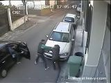 Two Guys Beat Up Woman And Steal Her Handbag