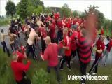 Danish Football Hooligans Fighting