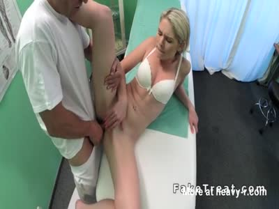 Slim blonde Sucks Doctors Cock