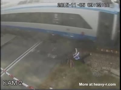 Cyclist Hit By High Speed Train