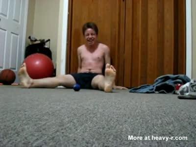 Drunk frat boys playing nutball in their underwear
