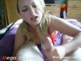 Blonde Babe Amazing POV Handjob