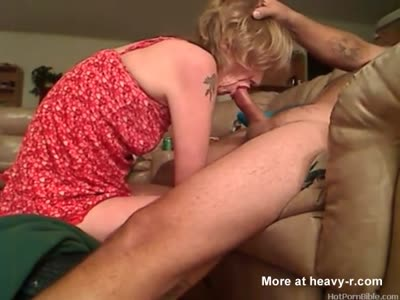 Tattooed Mature Gives Head