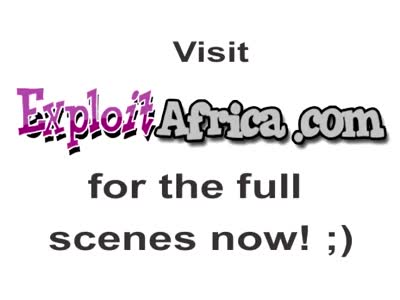African hottie services two white dicks