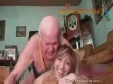 Grampa makes girl laugh