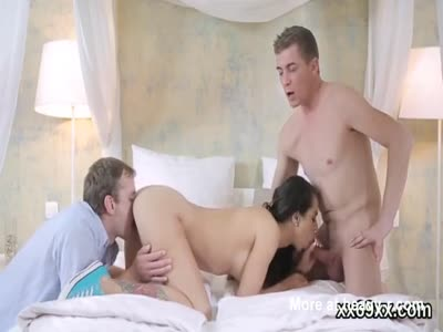 Fella assists with hymen examination and nailing of virgin t