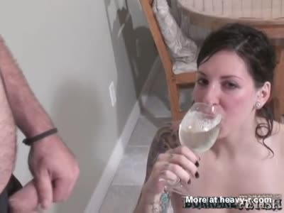 Spit drinking fetish SHE MAKE