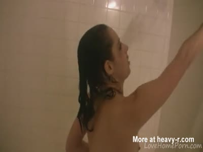 Showering session spiced up with a nice blowjob