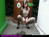 Teen Pissing Outdoor