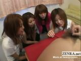 Japanese CFNM Playing With Man's Anus