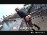 UK MILF Flashing Outside
