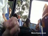 Girl Watches Public Wanker In Bus