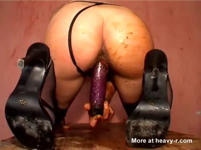 Dirty Dildo Masturbation And Shit Tasting