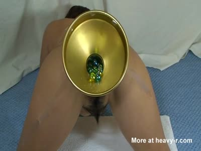 Filling Ass With Glass Balls