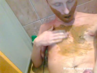 Lui - Czech Poz Slut Scat eating and cumming