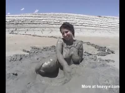 Mud Puddle Masturbation