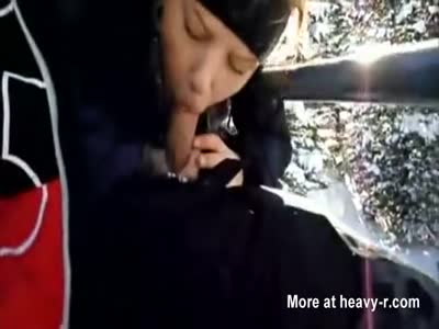 Blowjob in Ski Lift With Facial
