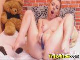 Busty Redhead Toying Pussy