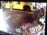 Old Woman Is Crushed By Bus
