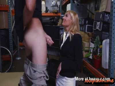 Hot Blonde Fucked In Storage