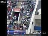 Football Fan Falls From Stands