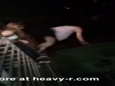 Party Girl Breaks Face Jumping Off A Roof