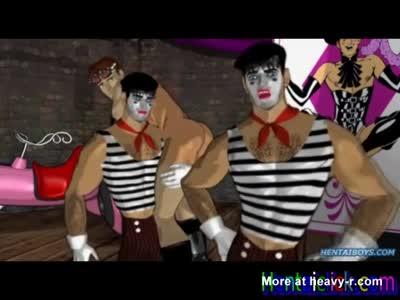 Group hentai gay hot gangbanged orgy at night