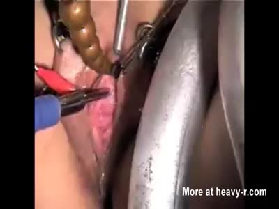 Penetrating Pee hole of slave Rowena