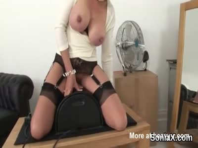 Busty MILFs First Sybian Ride