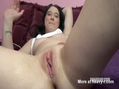 Huge Vibrator Makes Girl Squirt