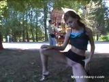 Young Girl Flashing In Public