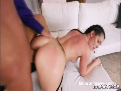 Hot thick butt brunette Brittany Shae takes an anal fuck
