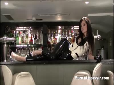 Sexy Barmaid In Latex